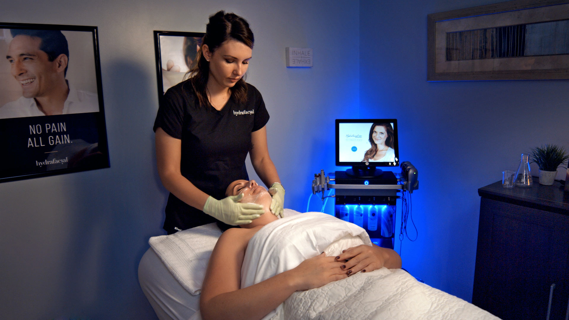 HydraFacial Treatment Photo. Commercial Photography by Redmonkie in Miami, FL