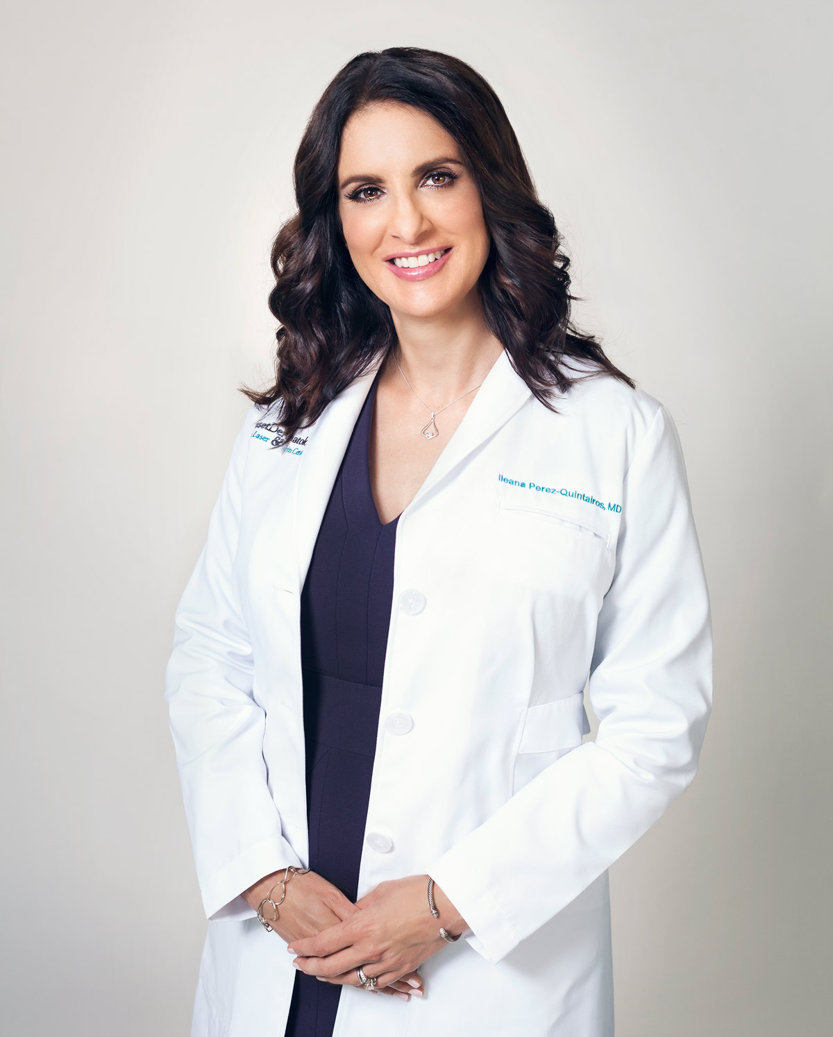 Photo of Ileana Perez-Quintairos, MD, for her dermatology business in South Miami, FL.