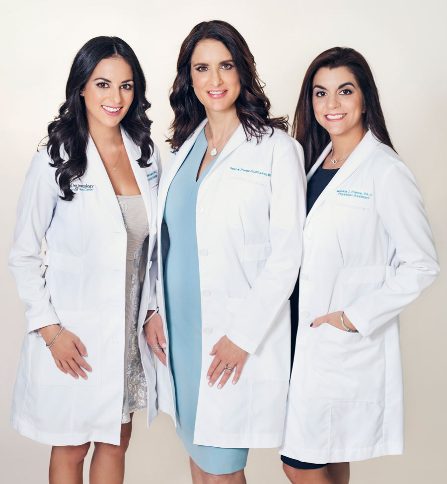 Dermatologist team business photograph.