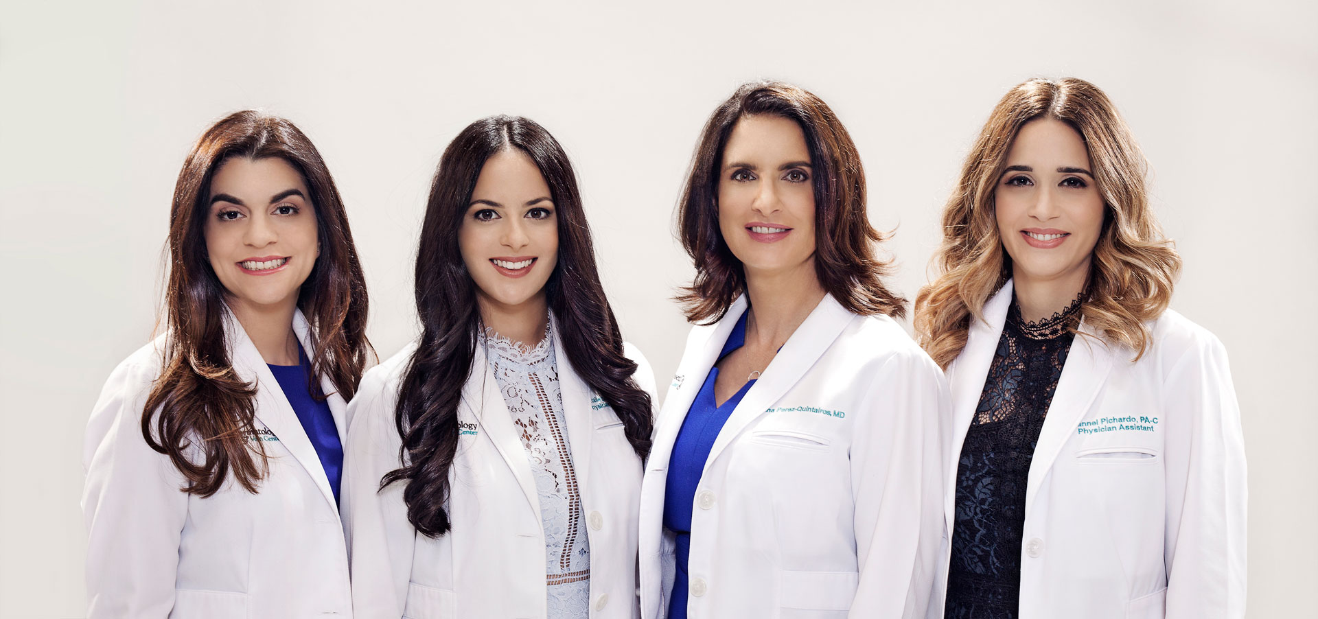 Sunset Dermatology's providers and staff corporate photograph taken at the South Miami location.