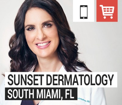 Online store for Sunset Dermatology in South Miami, Florida.