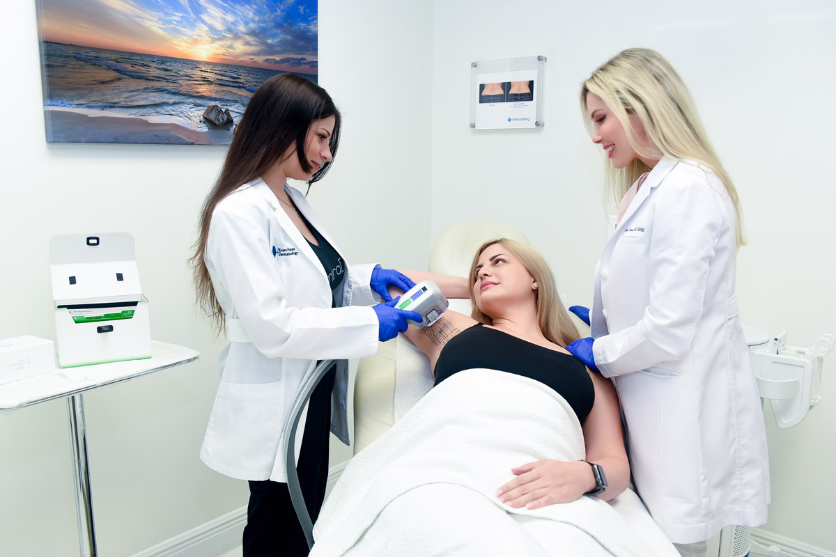miraDry Treatment Procedure Photography for Bowes Dermatology by Riverchase in Miami, Florida. Image #7.