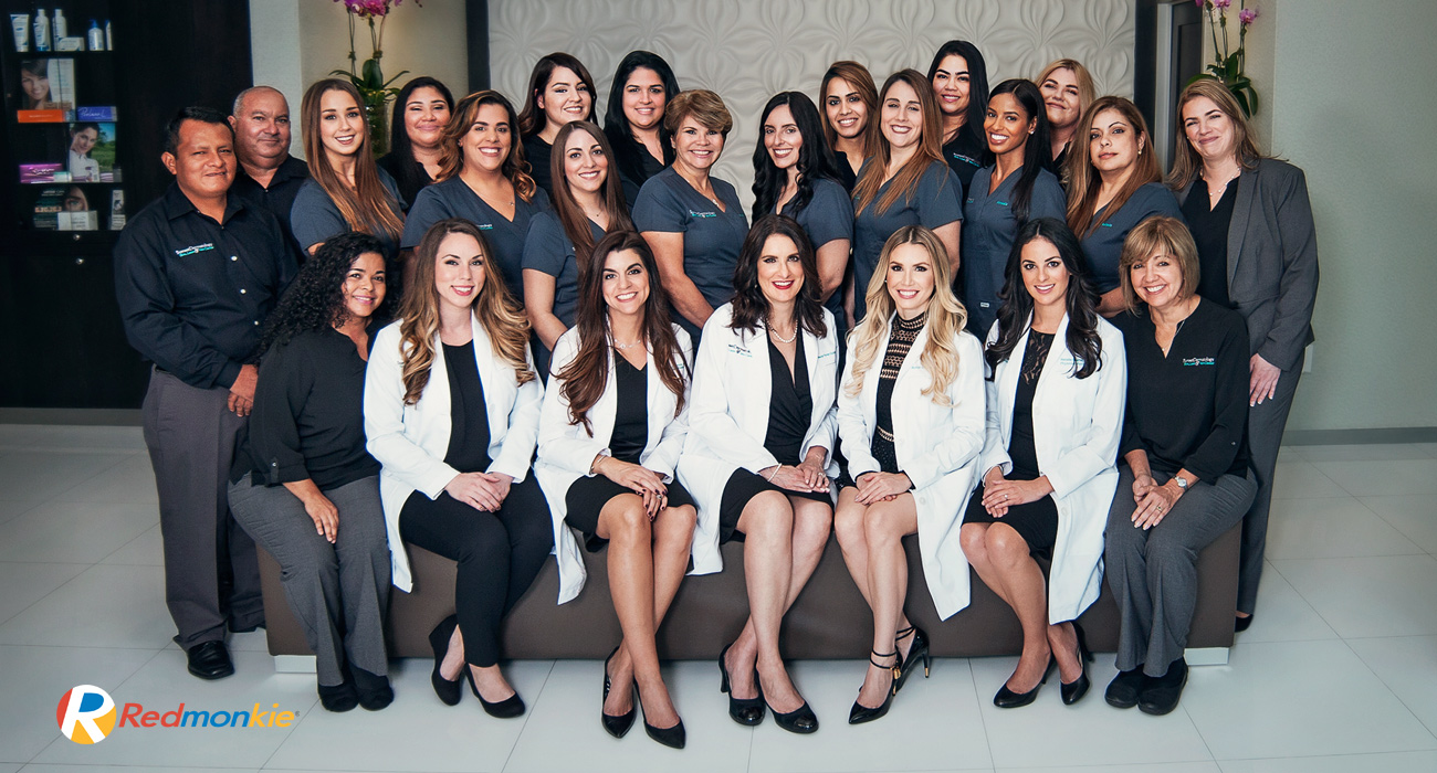 It's a wrap! We finished our photo shoot in South Miami with this group photo for all the staff.