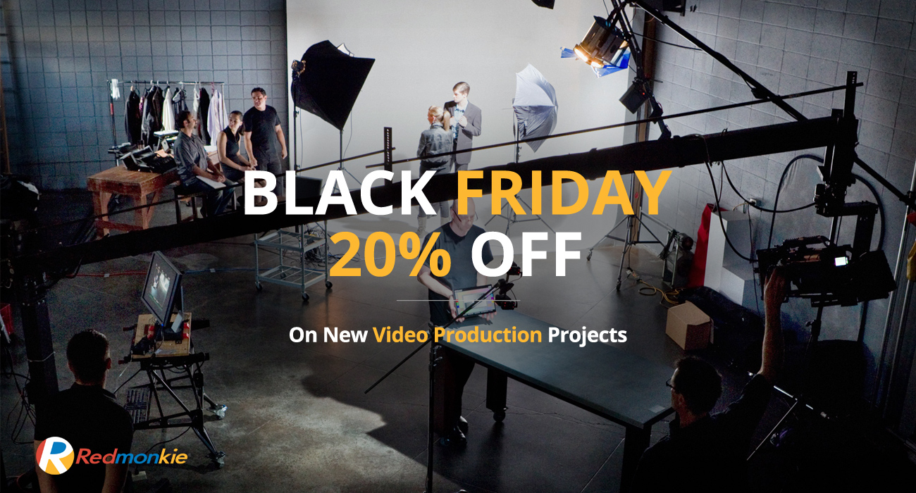 This Black Friday only get started on your video production projects and receive 20% OFF when ordering our video production services by November 23rd, 2018.