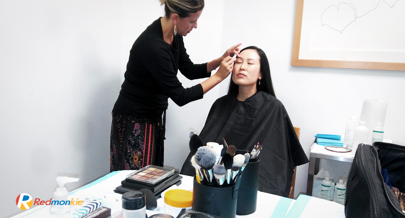 Dr. Lucy Chen is getting ready to perform on the filming of the new AquaGold educational video at Diane Walder Dermatology by Riverchase in Bay Harbor Islands, FL.