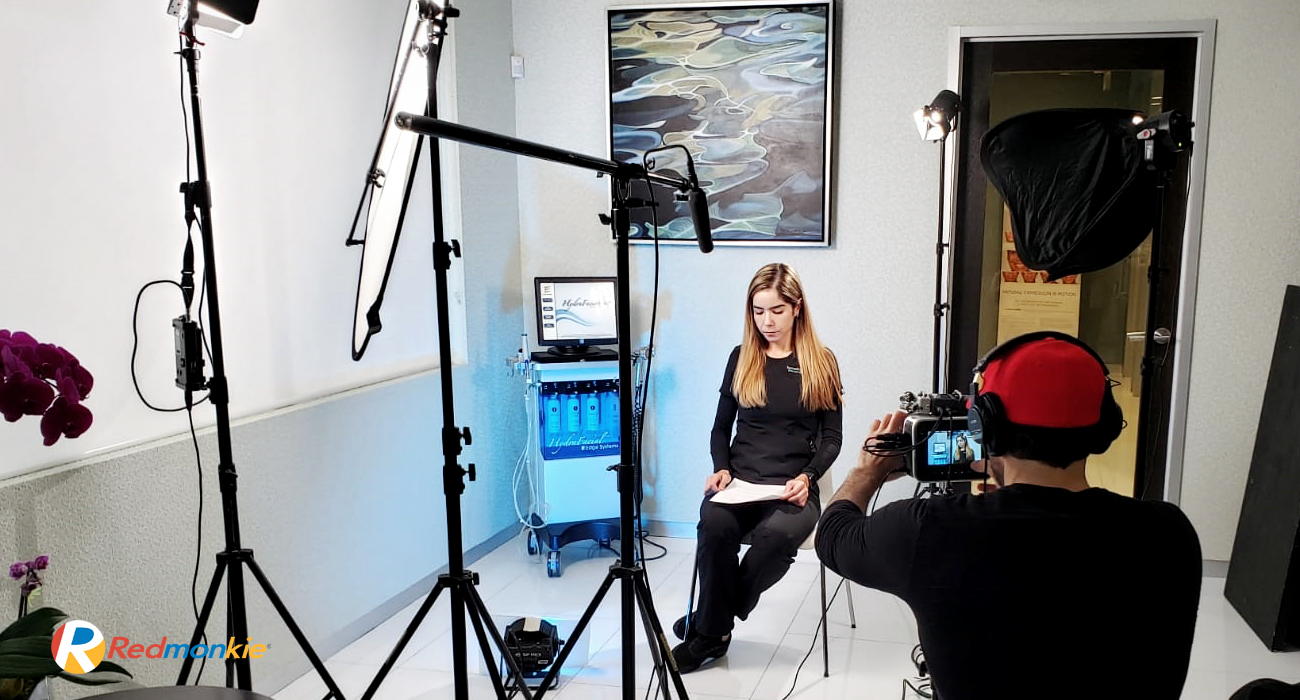 Hydrafacial educational video production by Redmonkie® for Sunset Dermatology in South Miami.