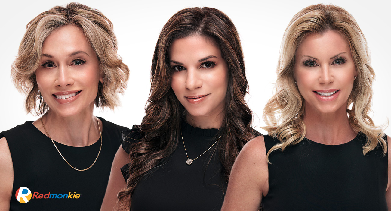 Carla Homez, C.M.A., Tammy Cobb, and Ruth Bayer. CoolSculpting specialists at Riverchase Dermatology.